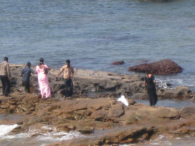 Indian Tourists at Anjuna Beach