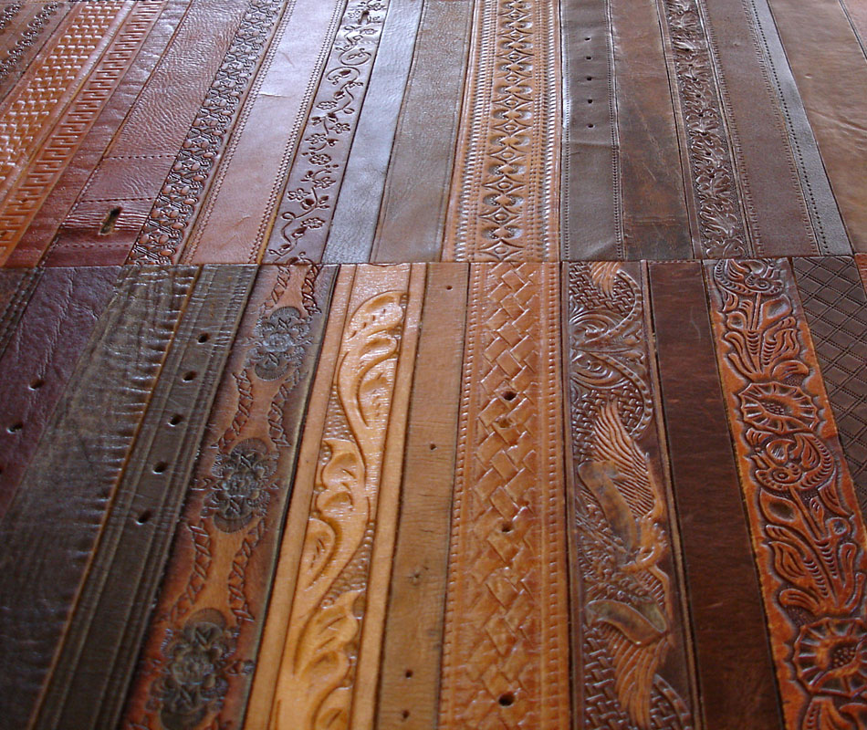 Recycled Leather Belt Flooring The Hobotect